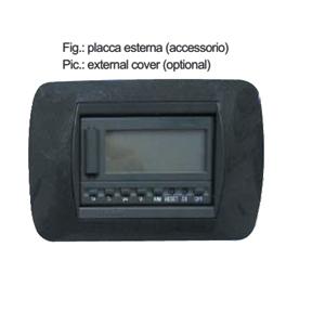 COM.LCD TERM.+E/I+3V.(incasso)sonda min.inclusa 503FA